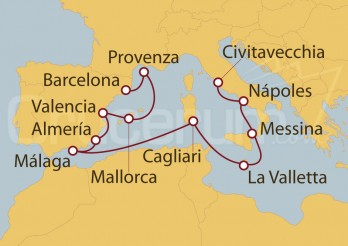 Crucero De Civitavecchia (Roma) a Barcelona