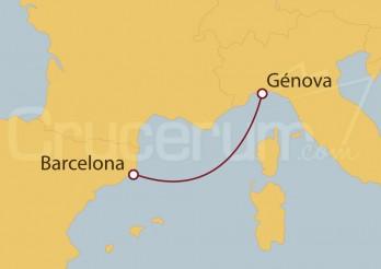 Crucero Minicrucero 2 días: Barcelona y Génova