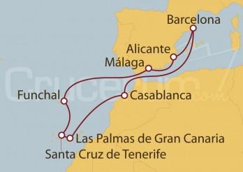 Crucero Islas Canarias desde Barcelona