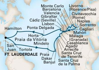 Crucero Gran Viaje por el Mediterráneo y África