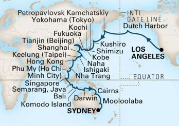 Crucero Gran Viaje por Asia y el Pacífico