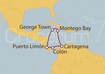 Crucero Cartagena (Colombia), Jamaica, Islas Caimán, Costa Rica y Panamá