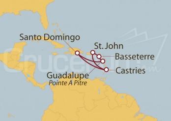 Crucero Islas del Caribe y St Lucia