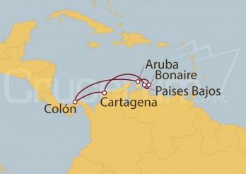 Crucero Colón (Panamá), Cartagena (Colombia), Willemstad, Curaçao
