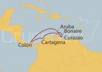 Crucero Colón (Panamá), Colombia, Aruba, Antillas Holandesas y Curaçao