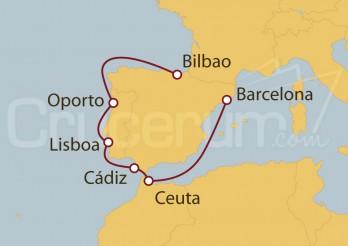 Crucero Del Cantábrico al Mediterráneo