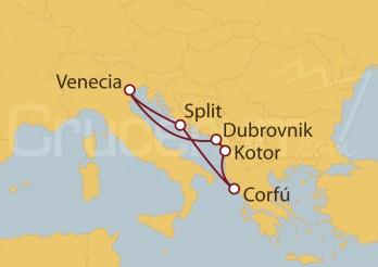 Crucero Adriático y Corfú (Grecia) desde Venecia