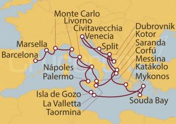 Crucero Tapiz Mediterráneo y Sueño Adriático