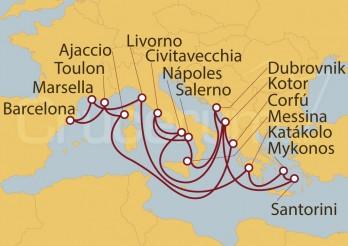 Crucero España, Francia, Italia, Grecia, Montenegro, Croacia