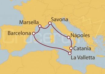 Crucero España, Francia, Italia y Malta