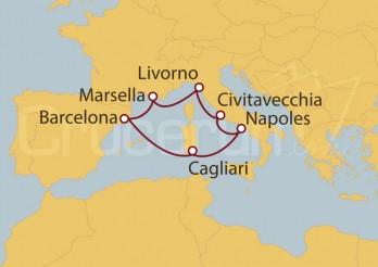 Crucero Barcelona, Italia y Marsella