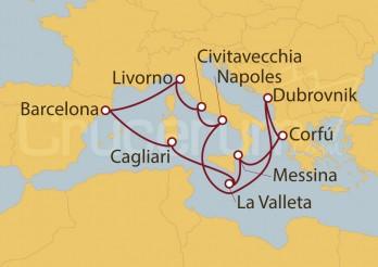 Crucero Adriático, Italia, Grecia y La Valletta desde Barcelona