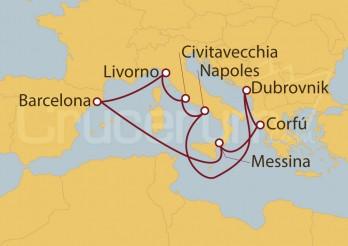 Crucero Adriático, Italia y Grecia desde Barcelona