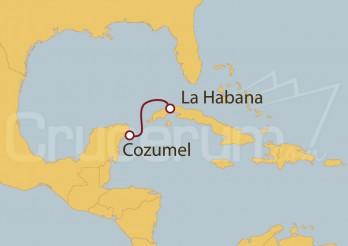 Crucero Minicrucero 2 días: Cozumel y La Habana