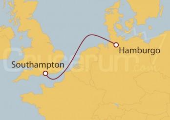 Crucero Minicrucero 3 días: Southampton (UK) y Hamburgo (Alemania)