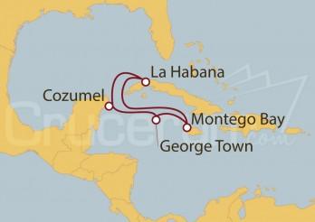 Crucero Cuba, Jamaica, Gran Caimán, México