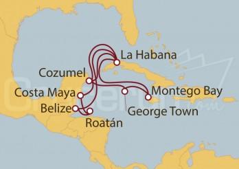 Crucero Cuba, Jamaica, Gran Caimán, México, Belice, Honduras