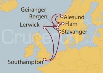 Crucero Southampton (UK), Noruega y Escocia