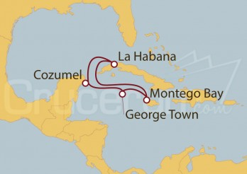 Crucero México, Cuba, Jamaica, Gran Caimán