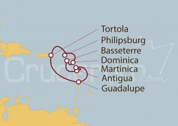 Crucero Guadalupe, Tórtola, St.Marteen, Dominica, Antigua, Martinica