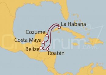 Crucero Cuba, Honduras, Belice, México