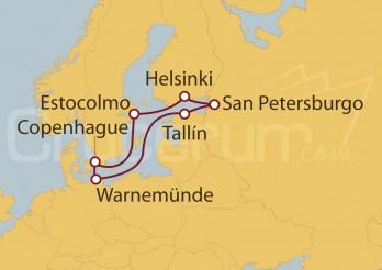 Crucero Capitales Bálticas desde Warnemünde