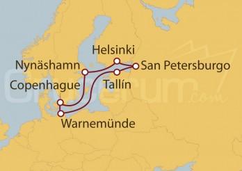 Crucero Capitales Bálticas desde Warnemünde (Alemania)