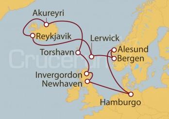 Crucero Hamburgo (Alemania), Islas Británicas y Escocia