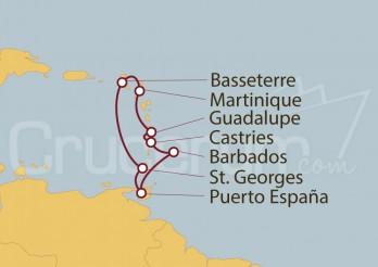 Crucero Guadalupe, Antillas, Barbados, Granada, St. Kitts, Martinica