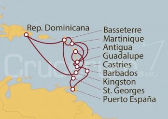 Crucero Guadalupe, Antillas, Barbados, Granada, St. Kitts, Martinica, Antigua, San Vicente y Rep. Dominicana