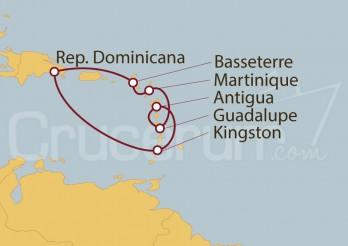 Crucero Guadalupe, Antigua y Barbuda, San Vicente y las Granadinas, República Dominicana, St. Kitts, Martinica