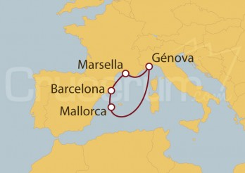 Crucero Barcelona, Génova y Marsella