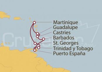 Crucero Guadalupe, Antillas, Barbados, Trinidad y Tobago, Granada, Martinica