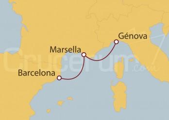 Crucero Barcelona, Marsella y Génova