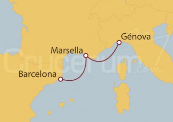 Crucero Minicrucero 3 días: Barcelona, Marsella y Génova