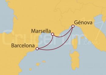 Crucero España, Italia, Francia