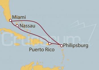 Crucero Miami(EEUU), St. Maarten, Puerto Rico, Bahamas