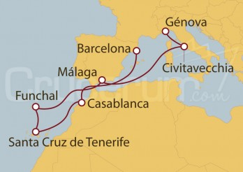 Crucero España, Marruecos, Portugal, Italia