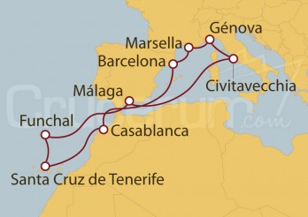 Crucero España, Marruecos, Portugal, Italia, Francia