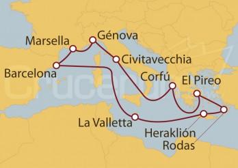 Crucero De España a Grecia, un viaje inolvidable