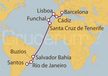 Crucero De Barcelona a Santos (Brasil)