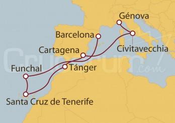 Crucero España, Portugal, Marruecos, Italia