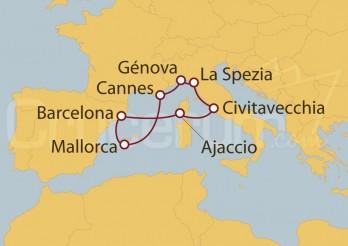 Crucero Roma (Civitavecchia),  Francia y España