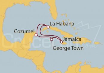 Crucero Cozumel (México); La habana; Jamaica; Islas caimán
