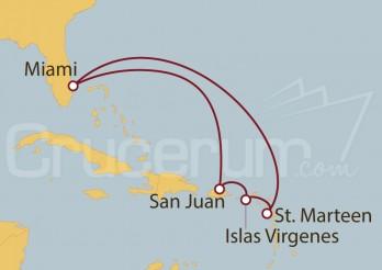 Crucero Miami (EEUU), Puerto Rico,  St. Thomas, St. Maarten