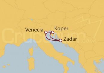 Crucero MiniCrucero por el Adriático desde Venecia