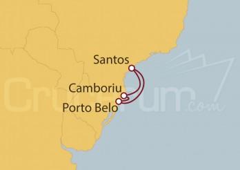 Crucero Santos, Portobelo, Camboriu, Santos