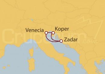 Crucero Venecia, Croacia, Eslovenia