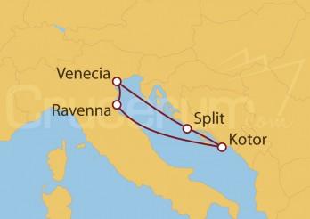 Crucero Italia, Montenegro, Croacia