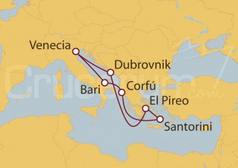 Crucero Italia, Grecia, Croacia